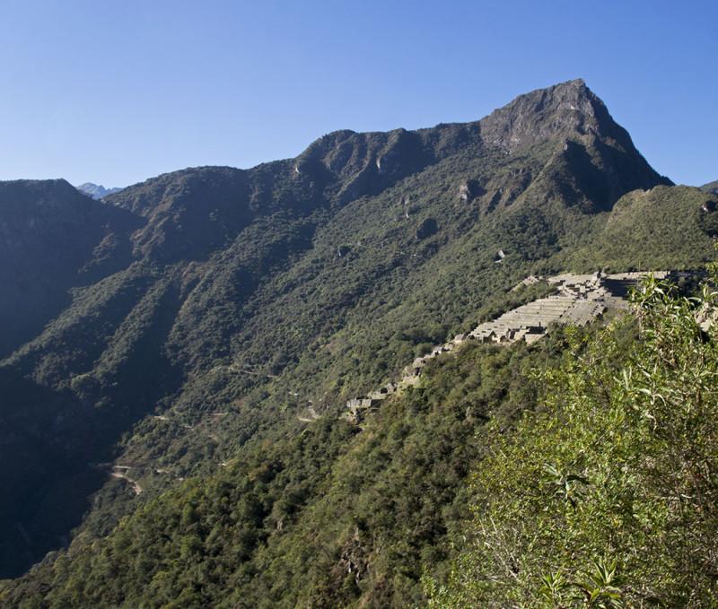 first glances back at Machu Picchu