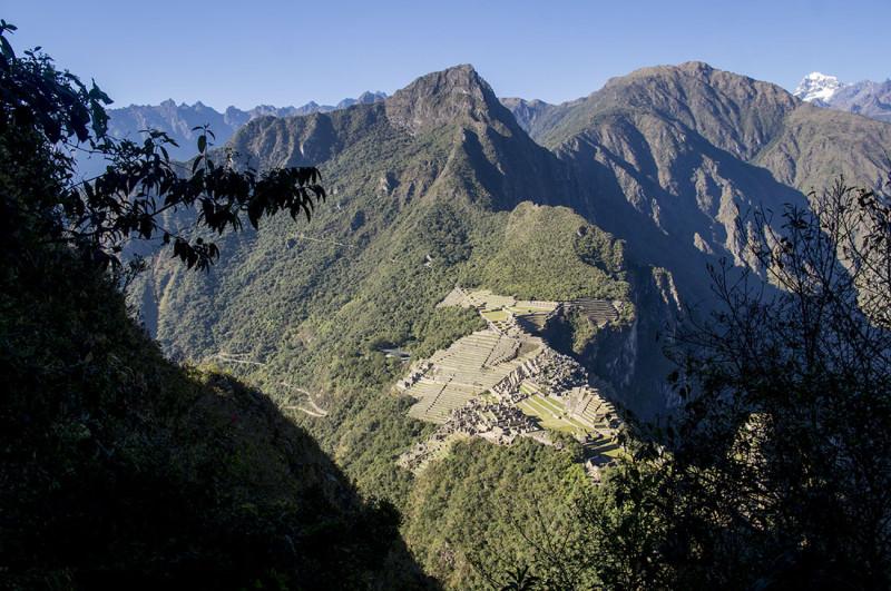 overlooking Machu PIcchu from Huayna Picchu
