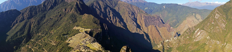 Panoramic from Huayna Picchu