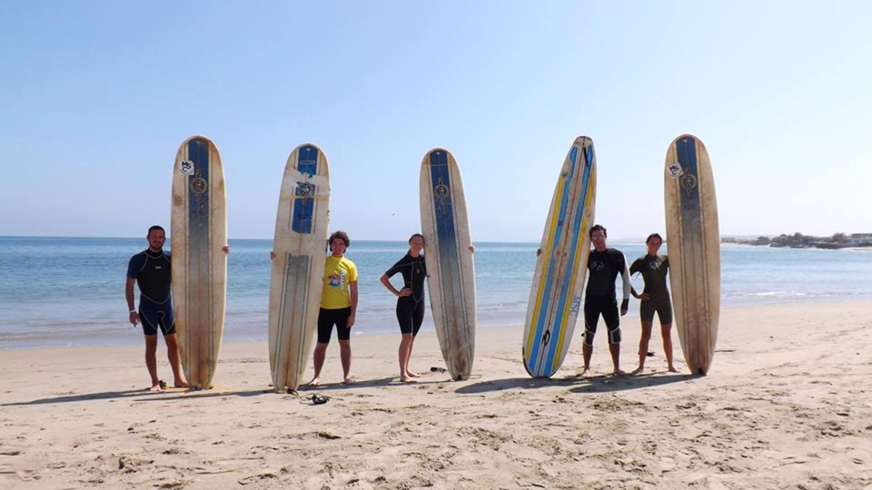 surfing in Mancora Peru