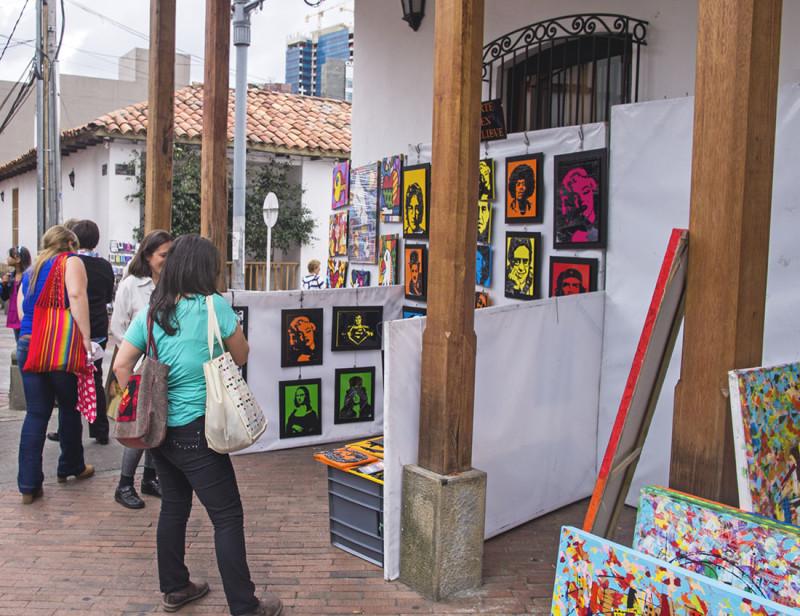 art vendor in Usaquen, Bogota, Colombia