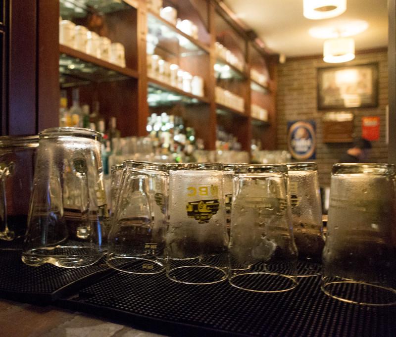 glasses drying, Bogota Beer Company