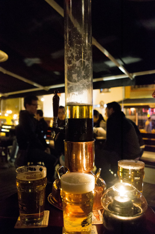 beer tower, Bogota Beer Company