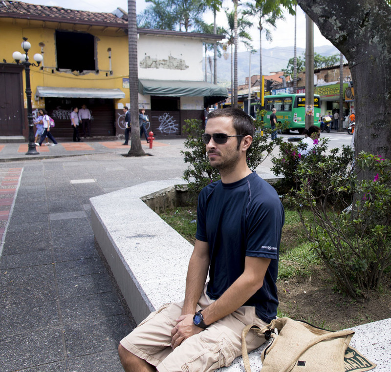 Matt in Parque Envigado