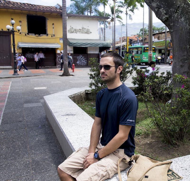 Matt in Parque Envigado