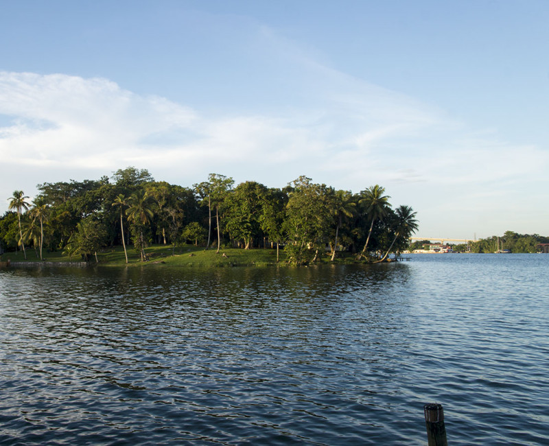 Bay in front of Tortugal, Rio Dulce Guatemala