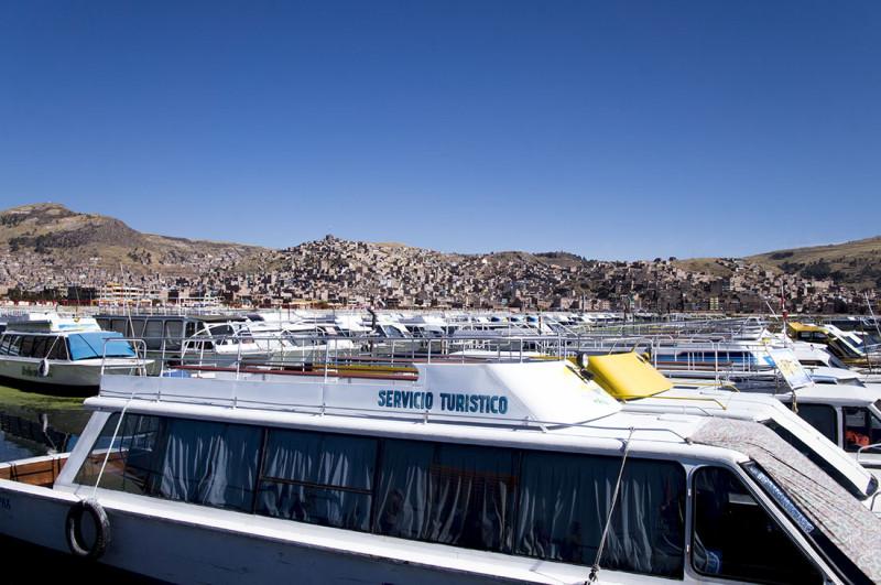 ferry in Puno Peru