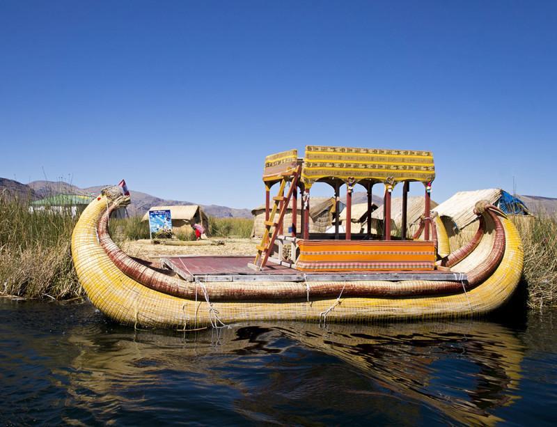 reed boat, Los Uros, Lake Titicaca