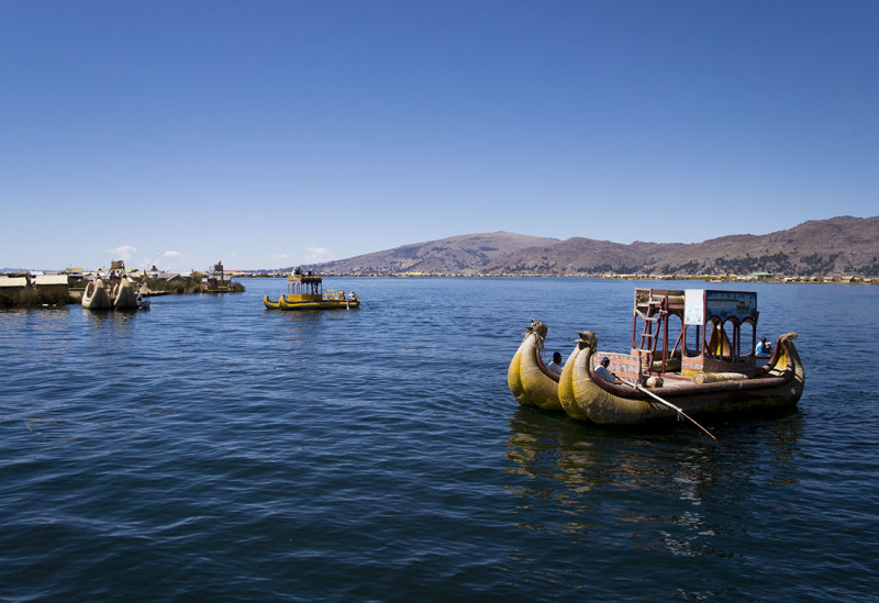 reed boats Lake Titicaca