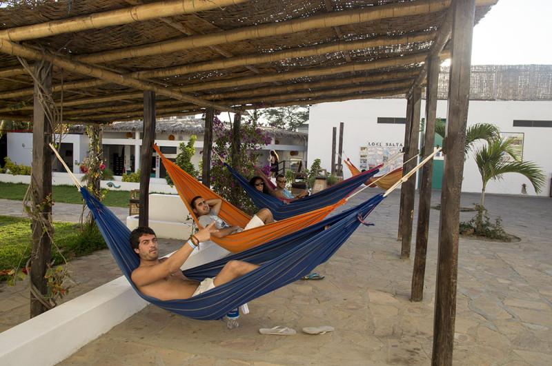hammocks, Loki del Mar, Mancora Peru