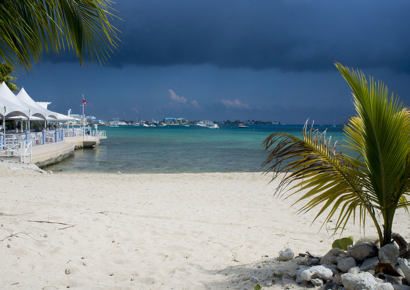 storm over Grand Cayman Island