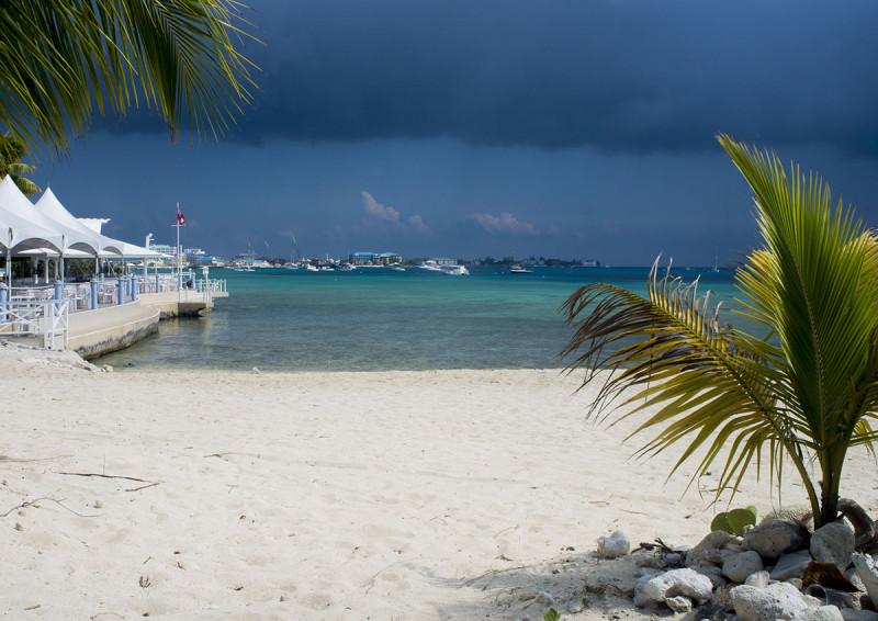 storm over Grand Cayman Island