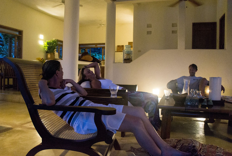 unwinding in the Rio house