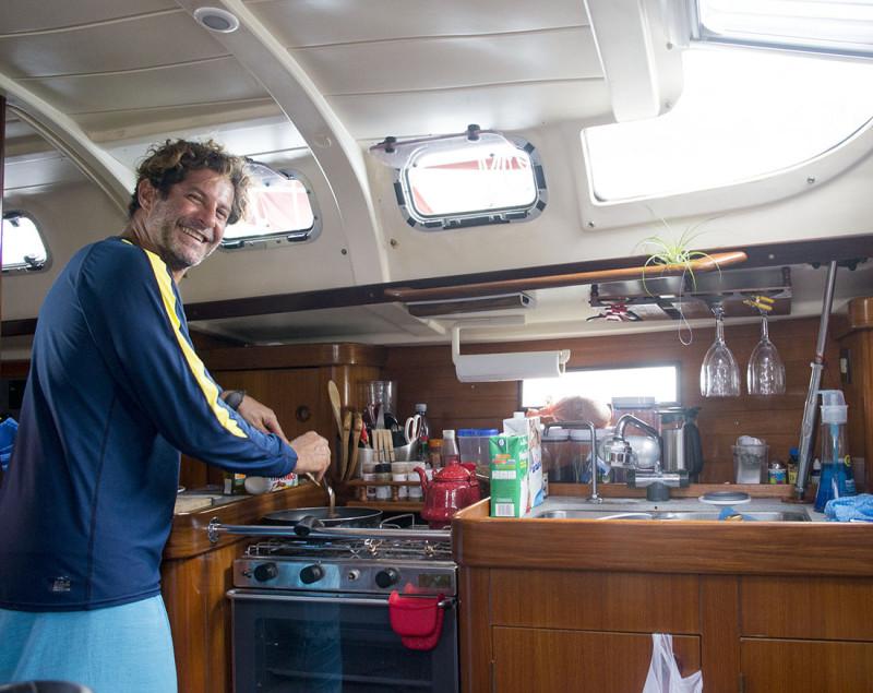 Alfredo cooking on Kajaya
