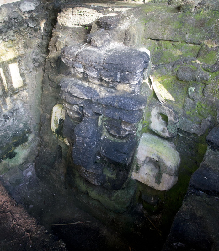 Mayan stone carvings at Tikal