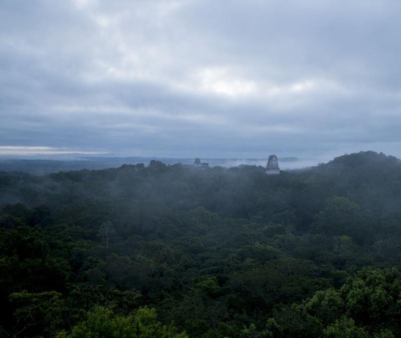 Sunrise over temple 2, Tikal