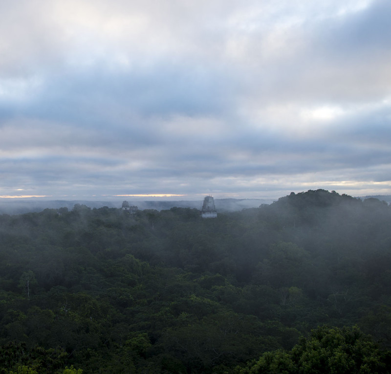 sunrise at Tikal
