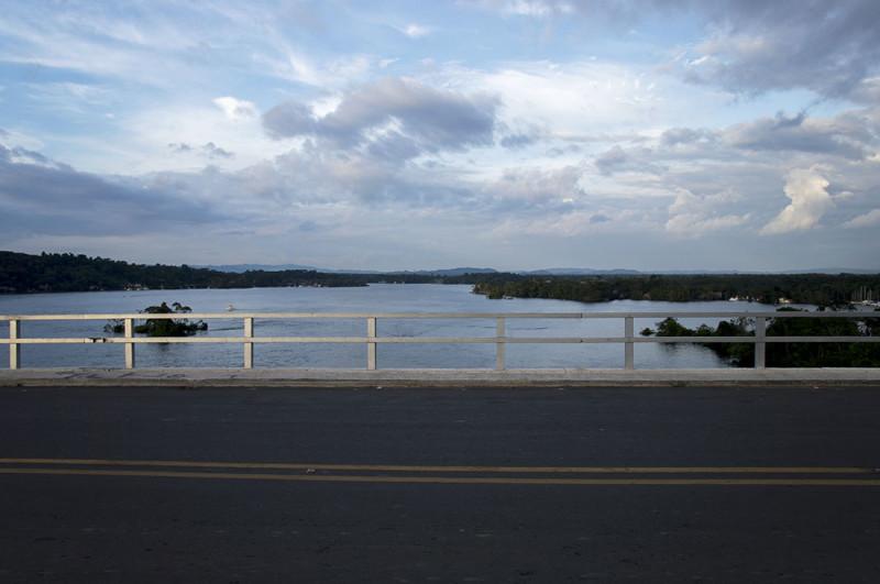bridge in Rio Dulce