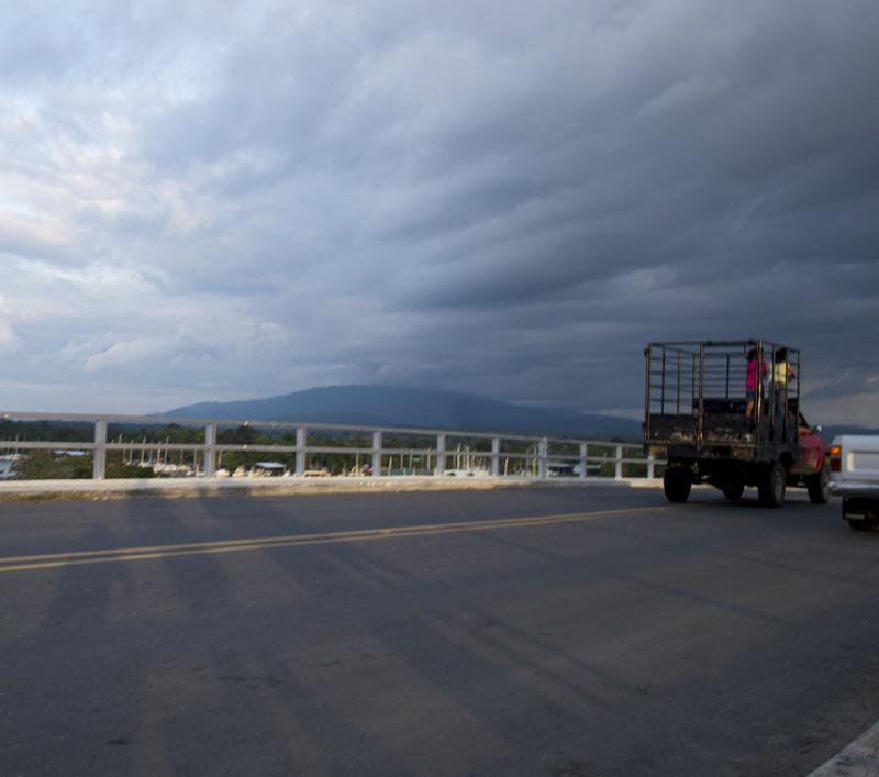 passenger truck, Rio Dulce, Guatemala