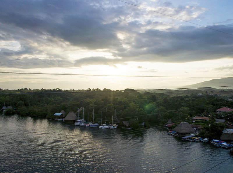 view from bridge, Rio Dulce, Guatemala