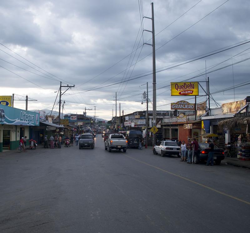 main street, Rio Dulce, Guatemala