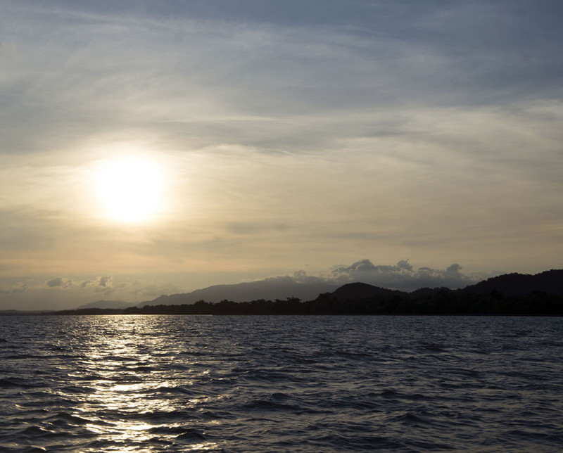 sunset on Rio Dulce