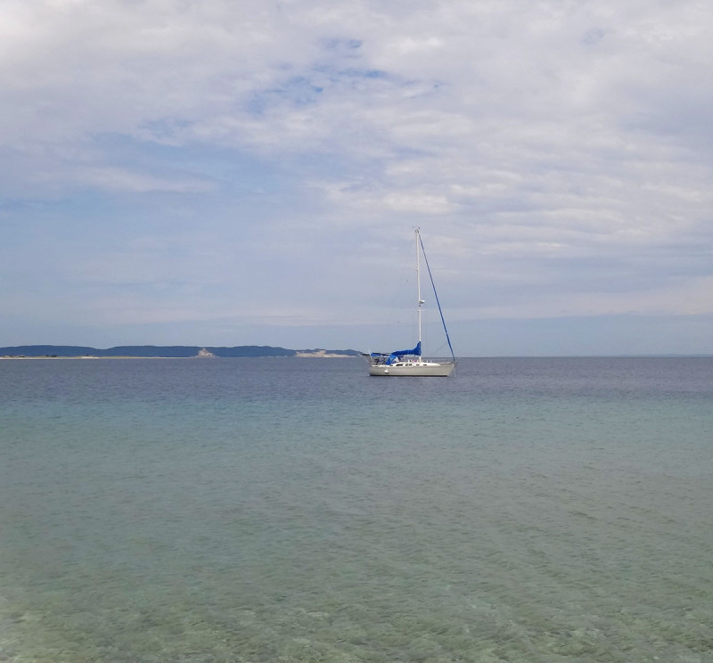 anchored at South Manitou Island
