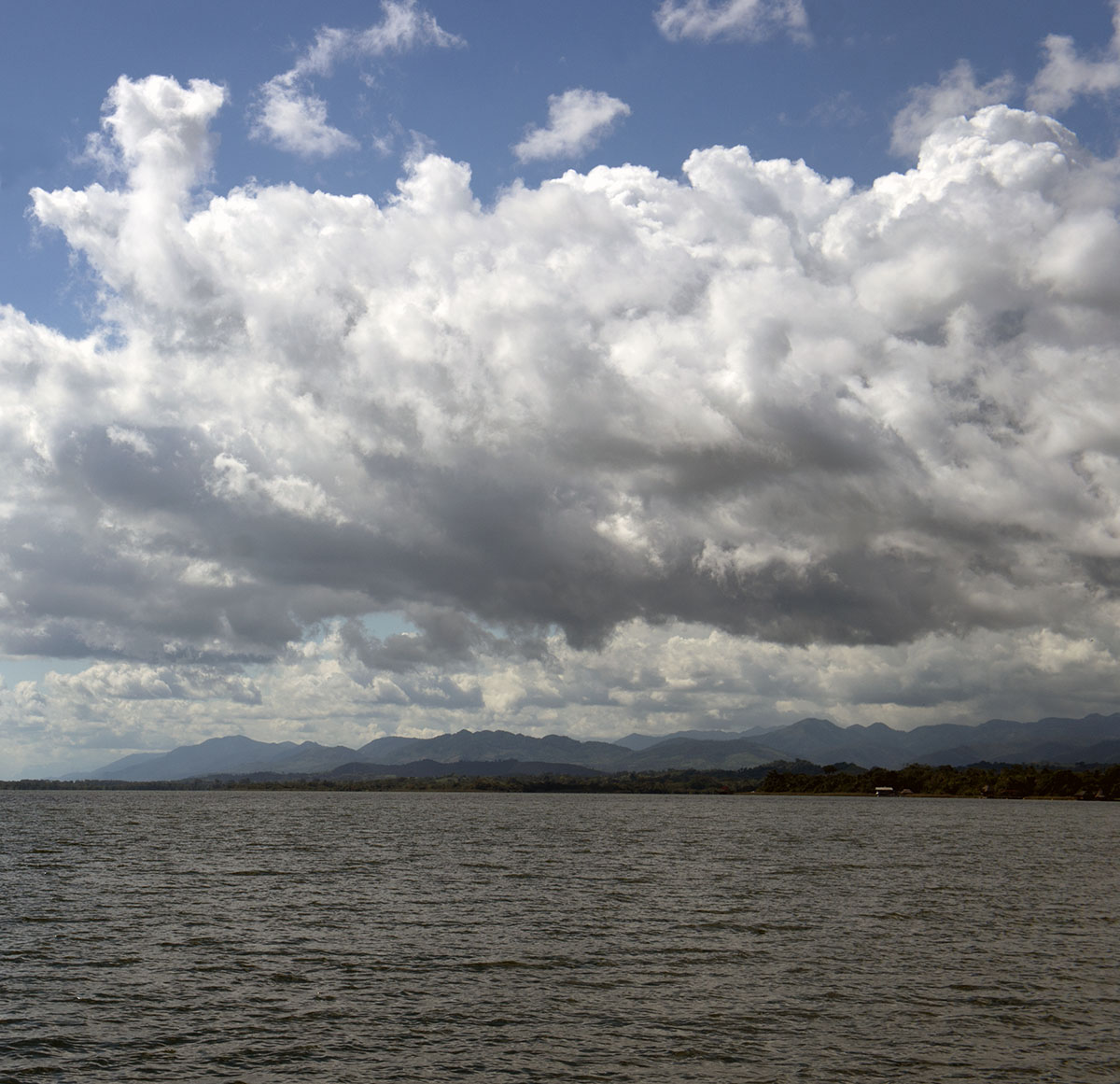 clouds over Lago Izabal