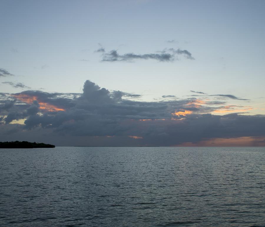 rain showers, Cay Caulker, Belize