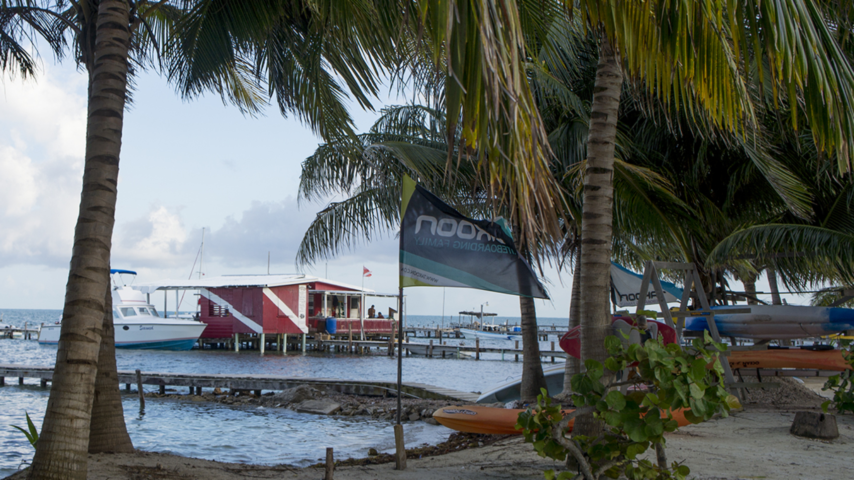 dive shop on Cay Caulker