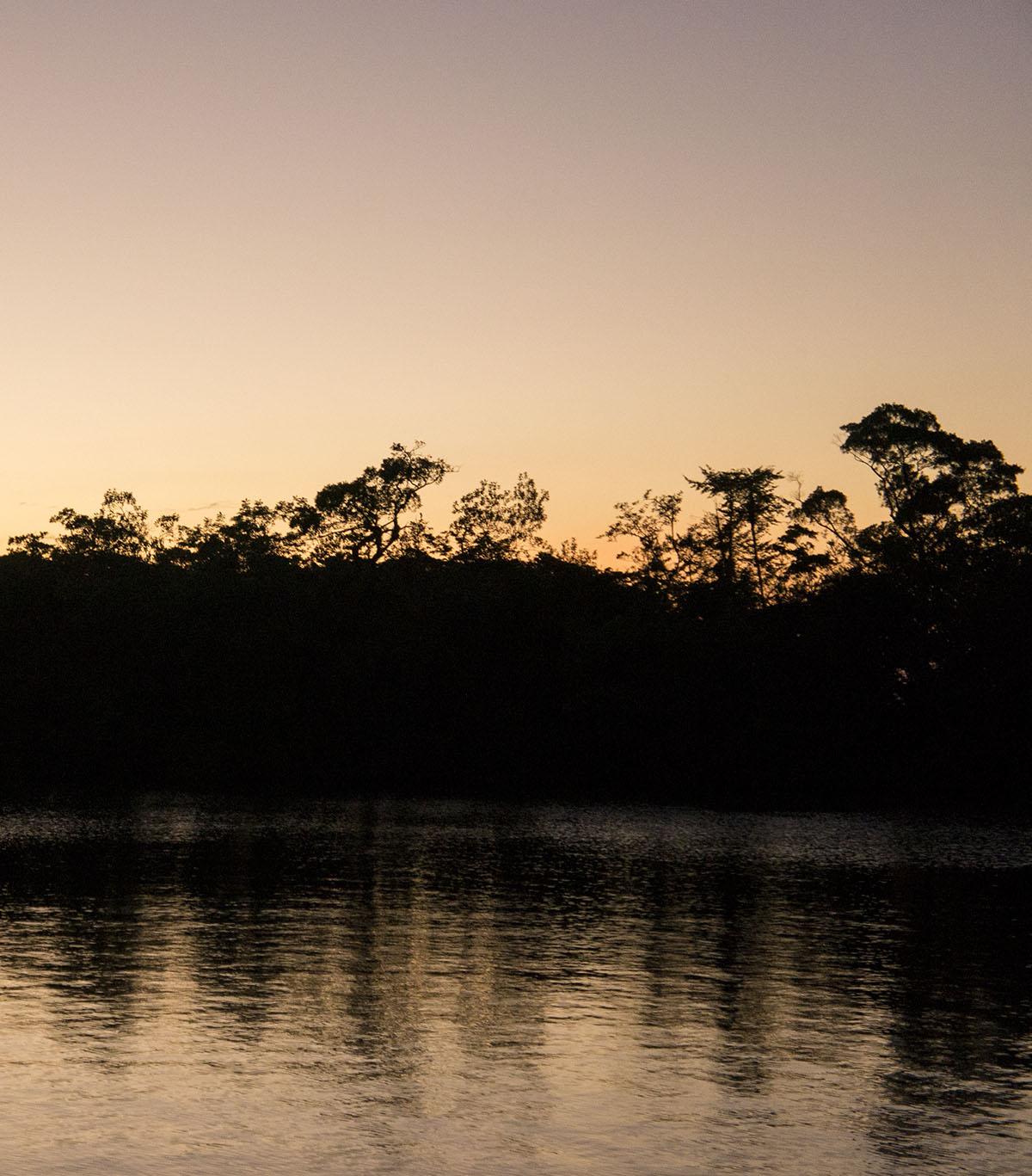 sunset in Texan Bay