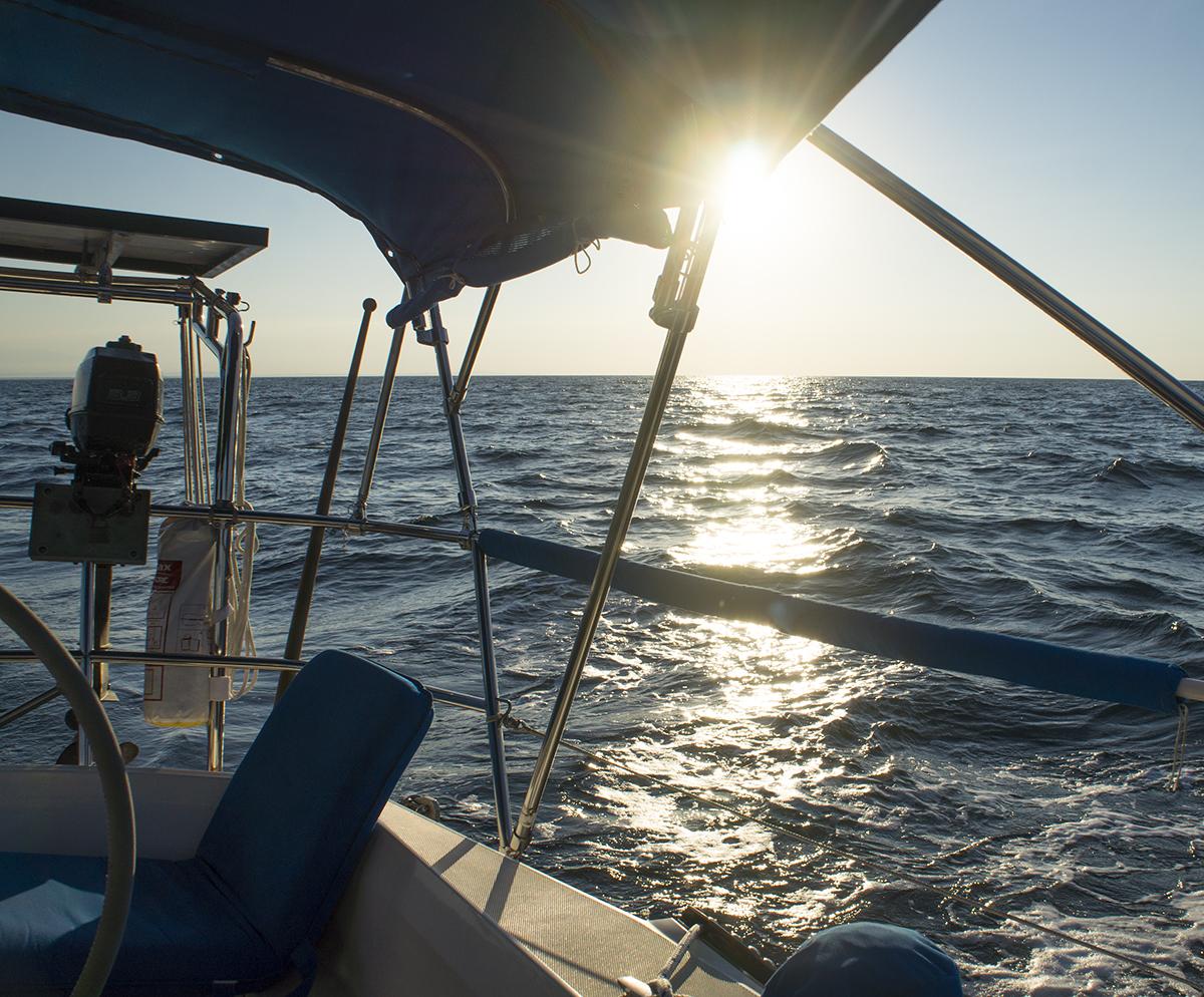 Gulf of Honduras at sunset