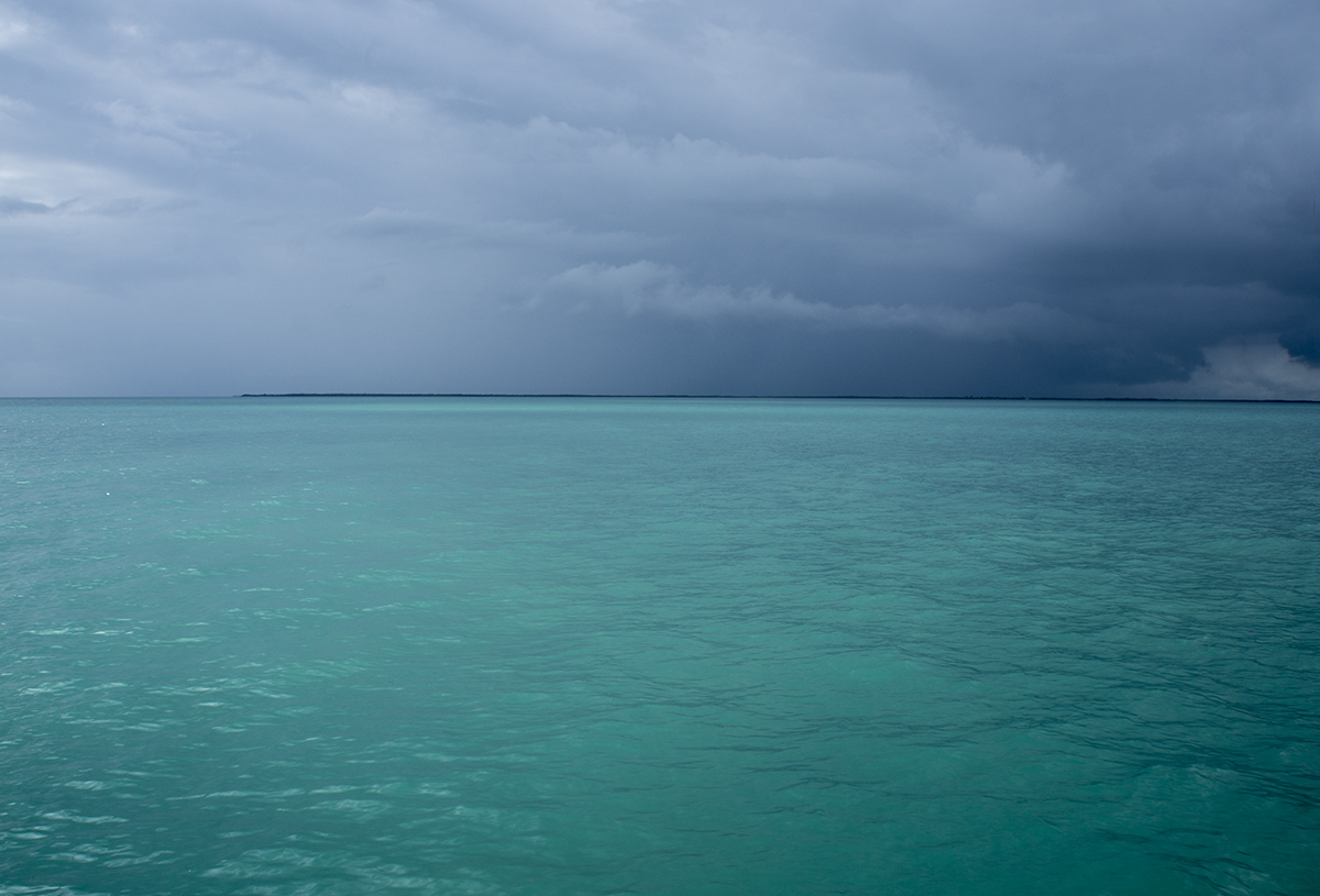 storms over Drowned Cays
