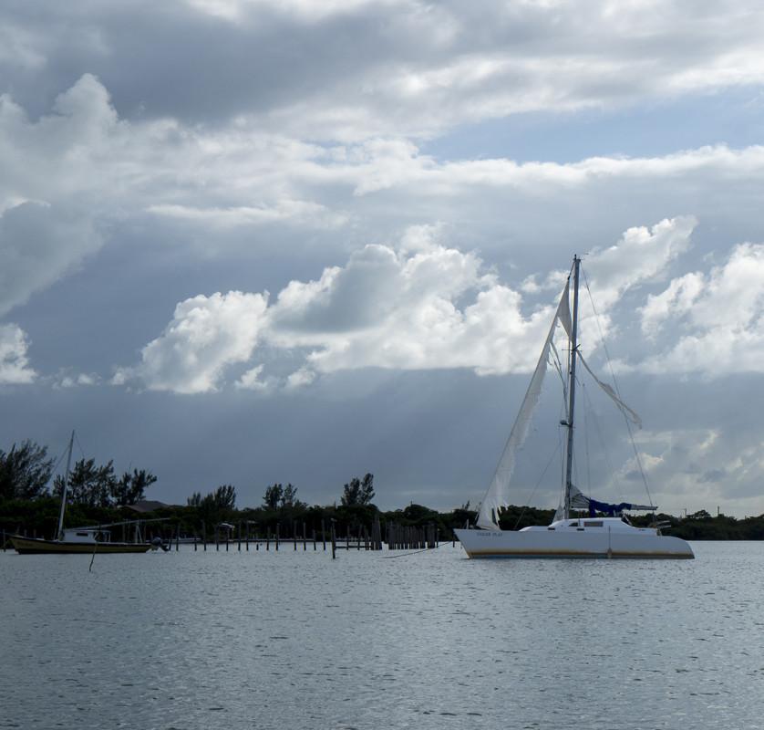 abandoned sail boat, Cay Caulker, Belize