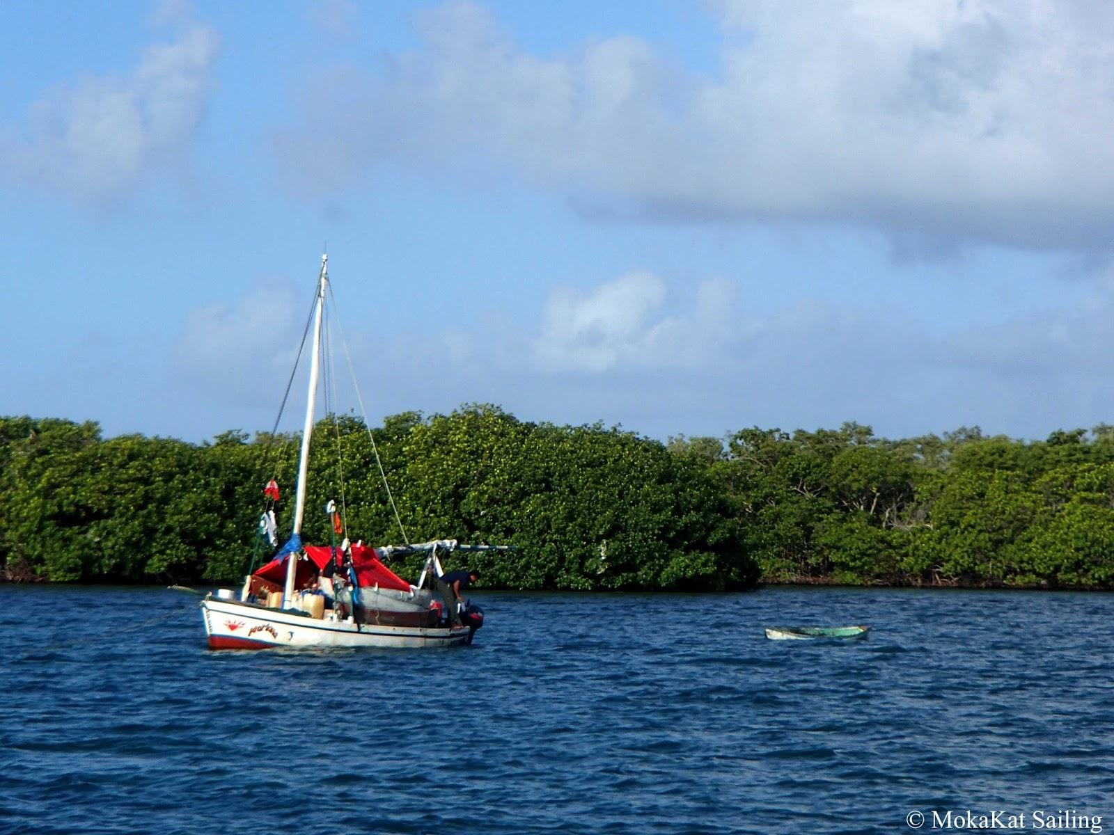 boat at Colson Cay