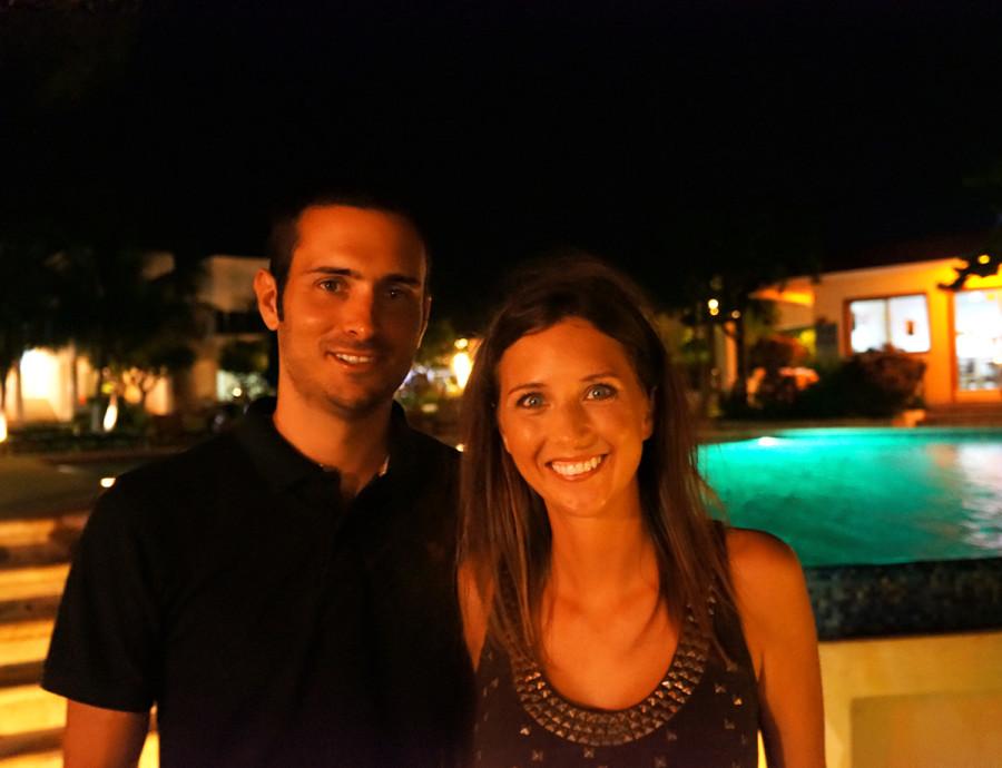 Matt & Jessica at Paraiso, Isla Mujeres