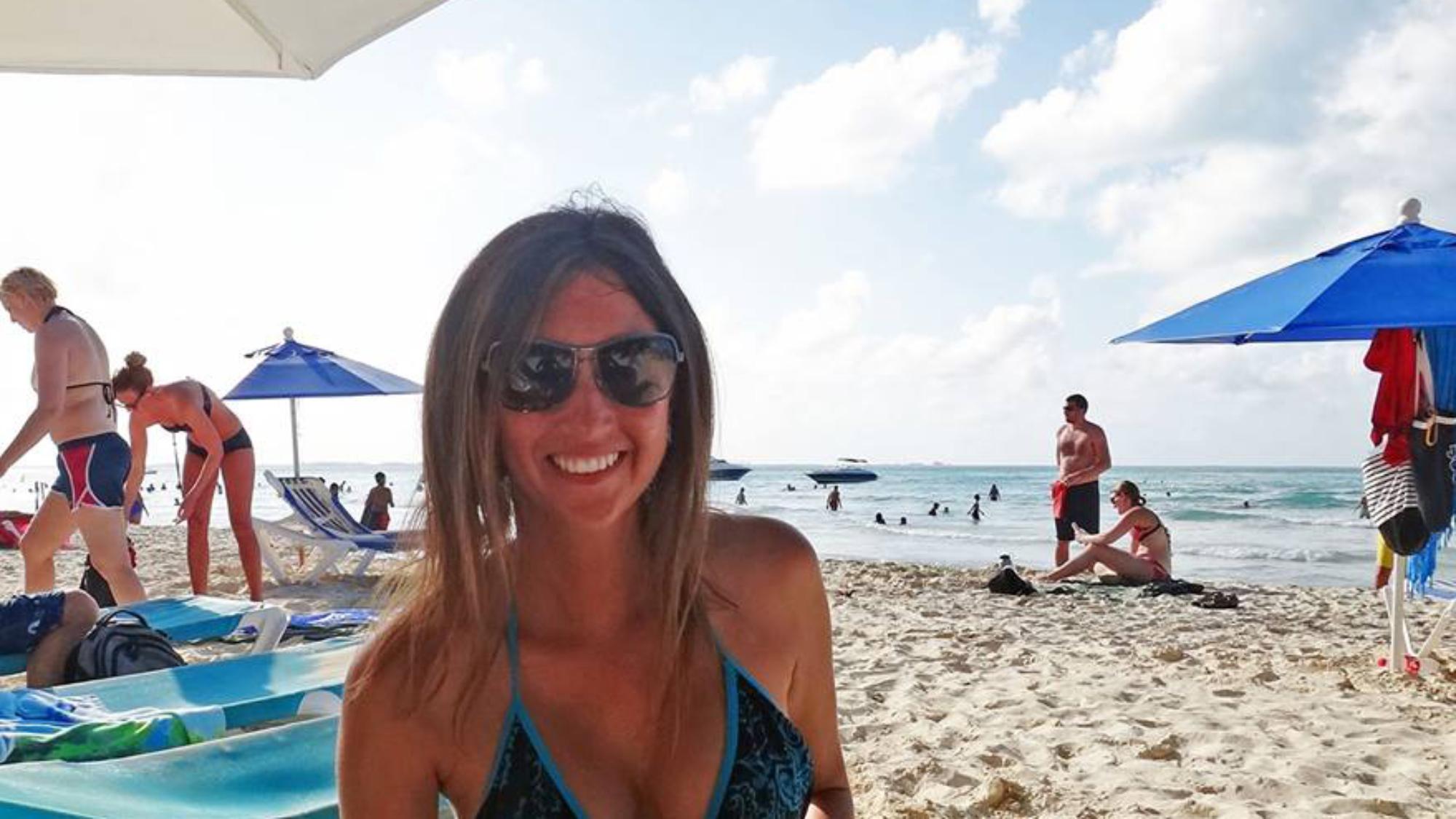 Jessica at Playa Norte, Isla Mujeres, Mexico