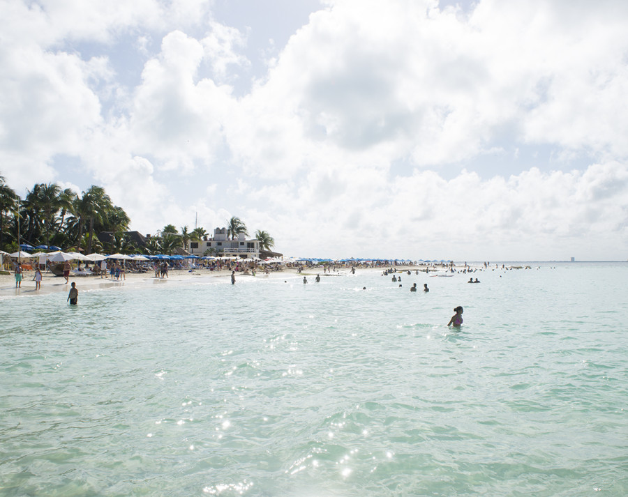 swimming at Playa Norte, Isla Mujeres