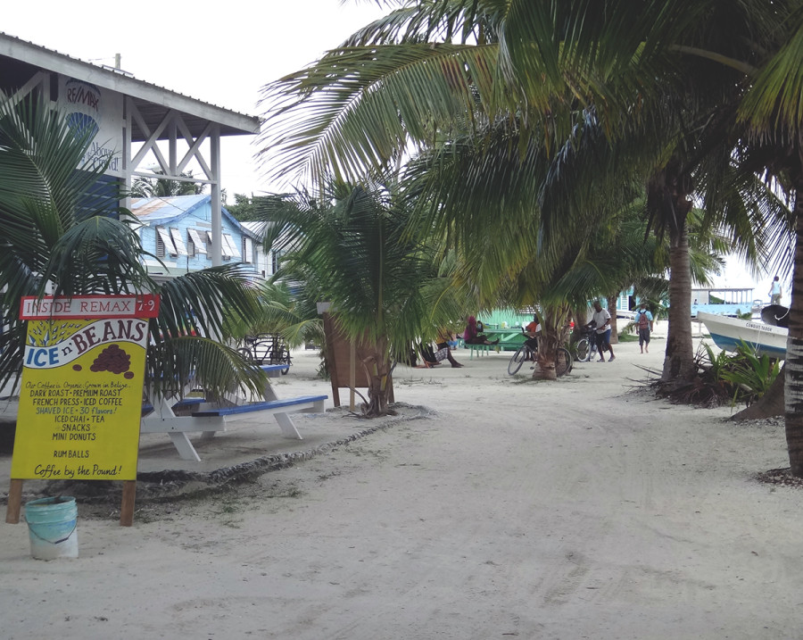 coffee shop, Cay Caulker, Belize