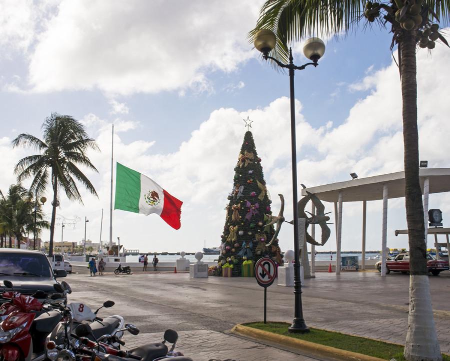 Christmas tree at Cozumel