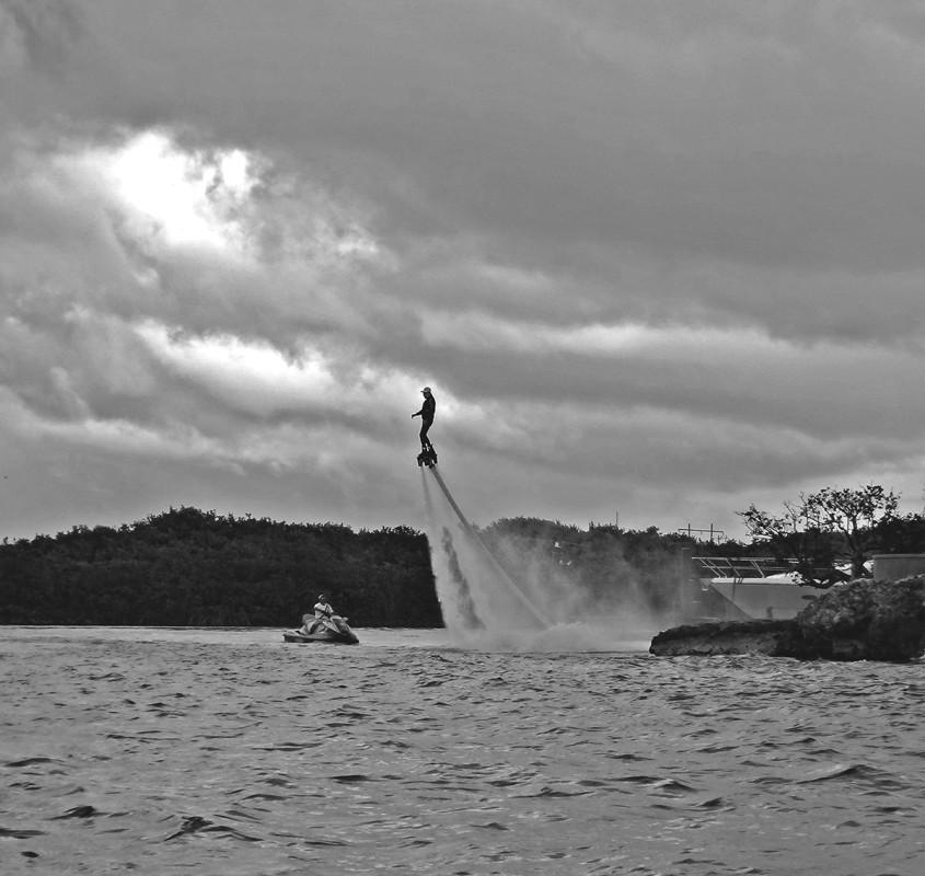 water jet pack, Isla Mujeres
