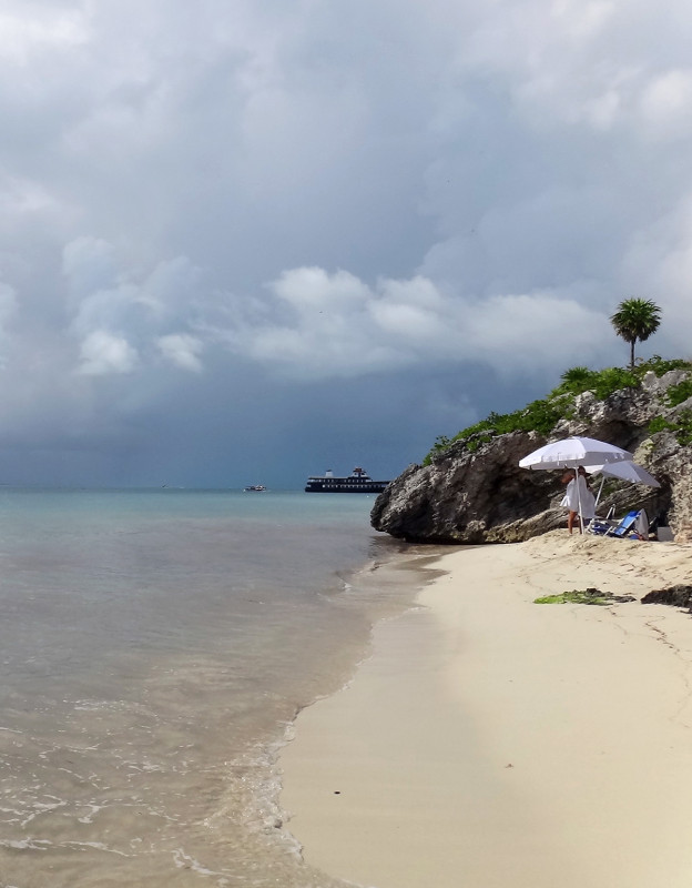 private beach in Isla Mujeres