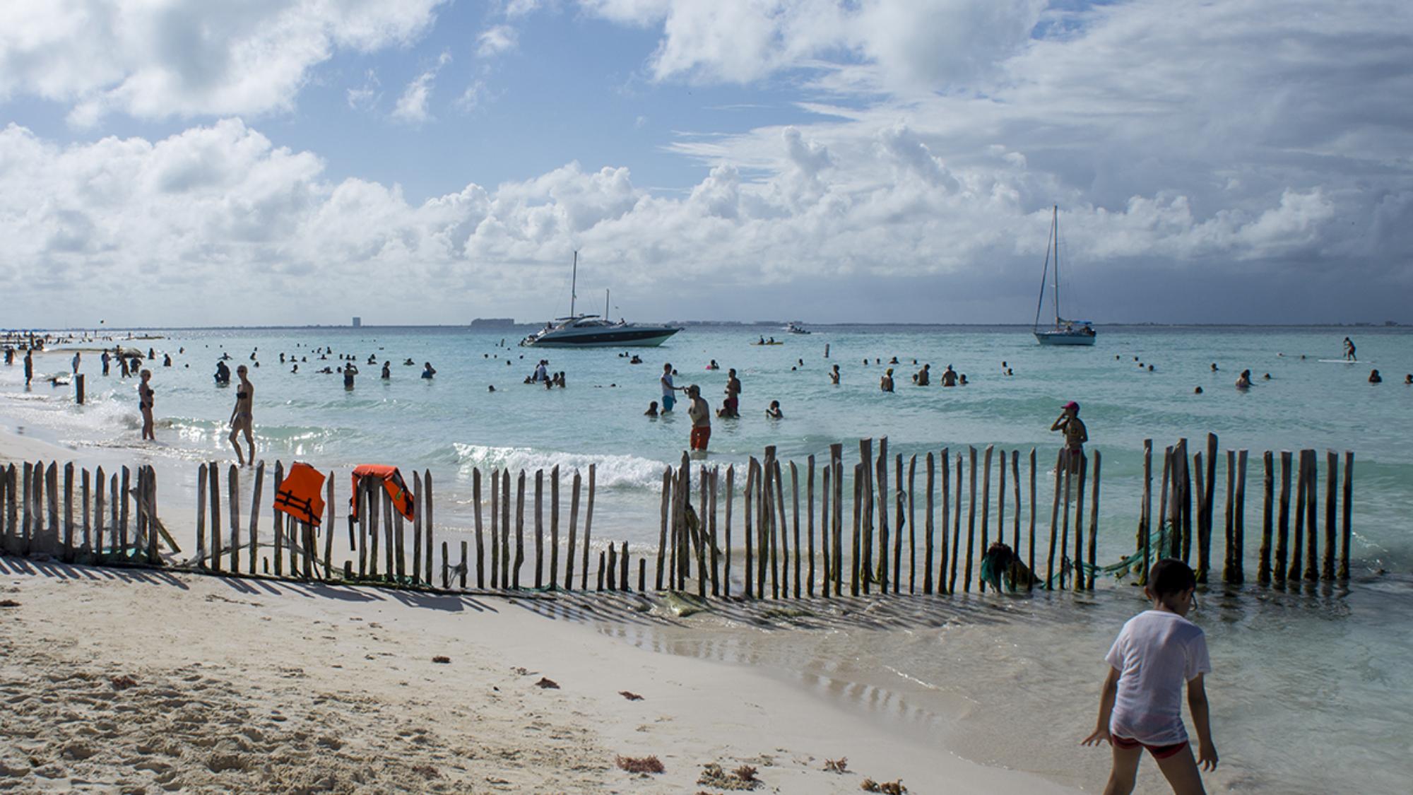 boy on beach, Isla Mujeres