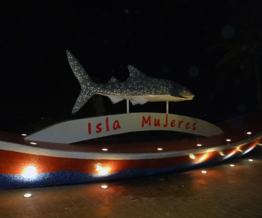 Isla Mujeres shark sculpture