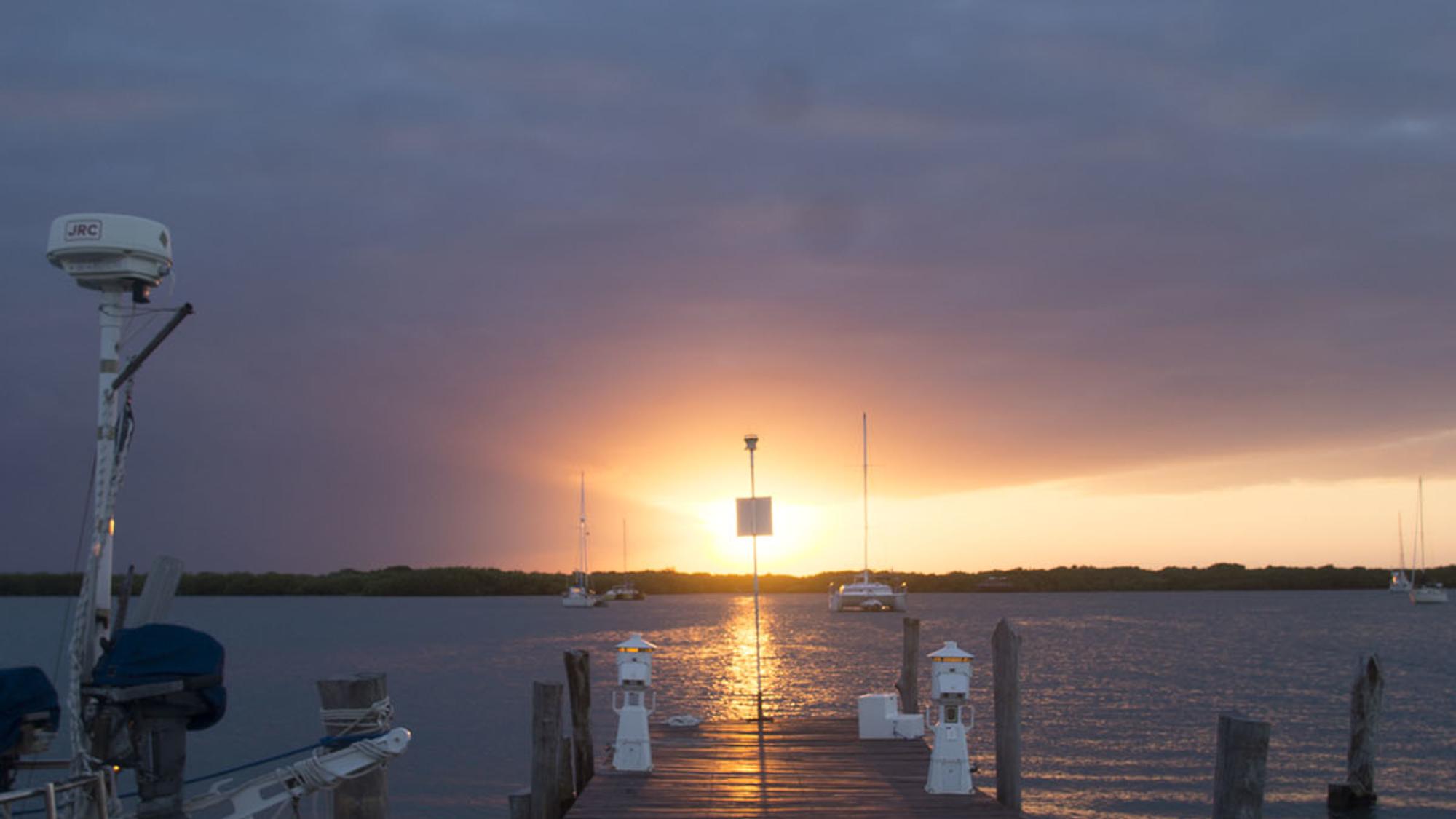 sunset at Marina Paraiso