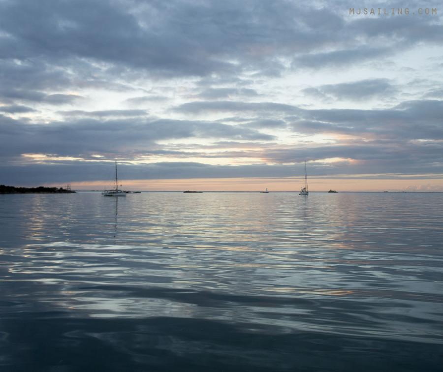 sunset in Isla Harbor