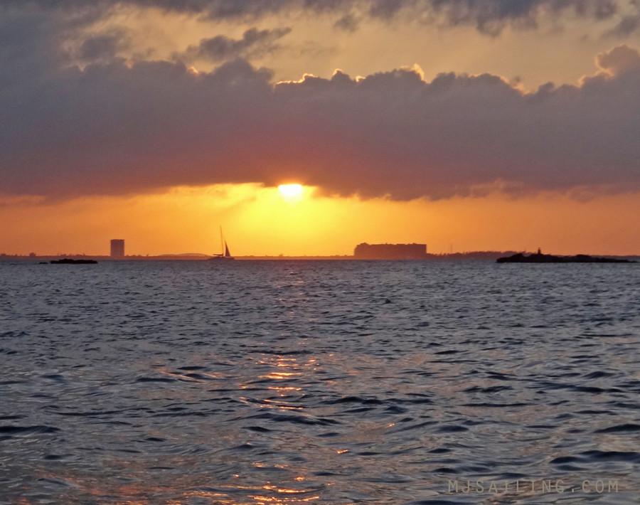 sunset in Isla Mujeres