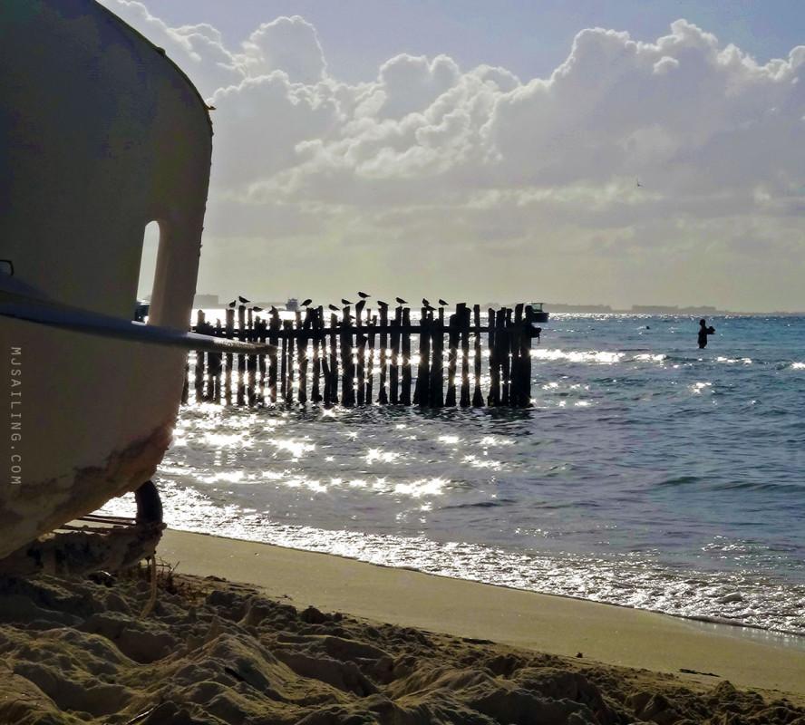 sun on North Beach