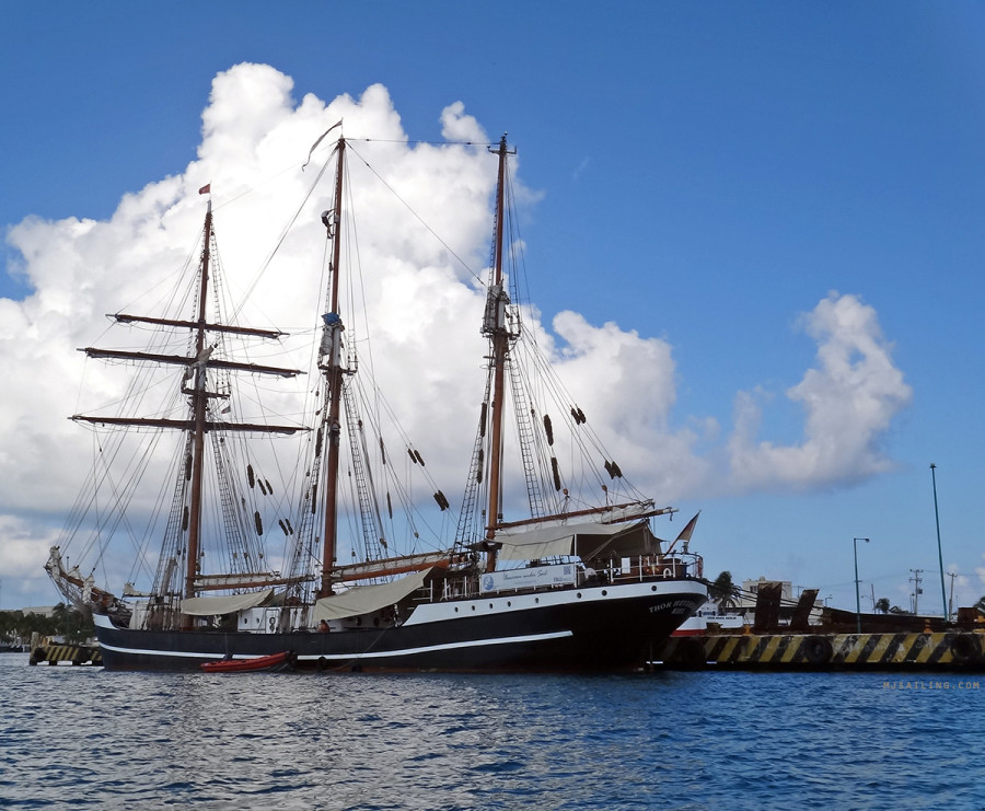 tall ship in Isla Mujeres