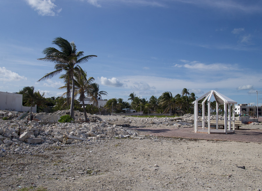 rubble in Isla Mujeres